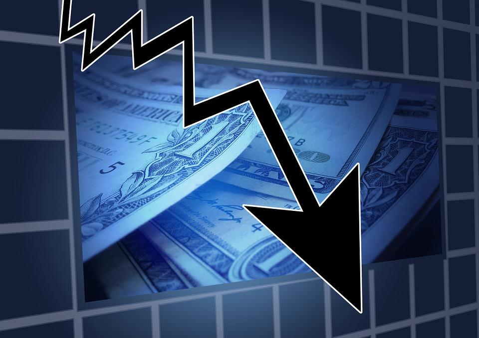 Image du dollars qui déprécie