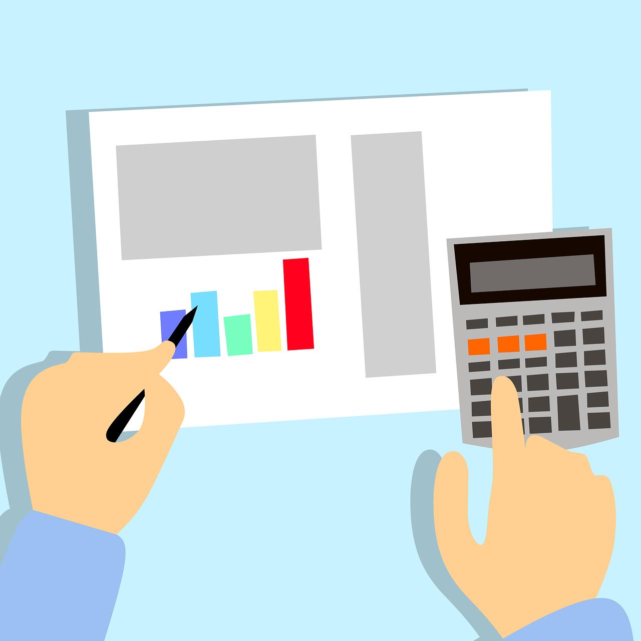 Photo reprensentant un calcul de taxe en immobilier